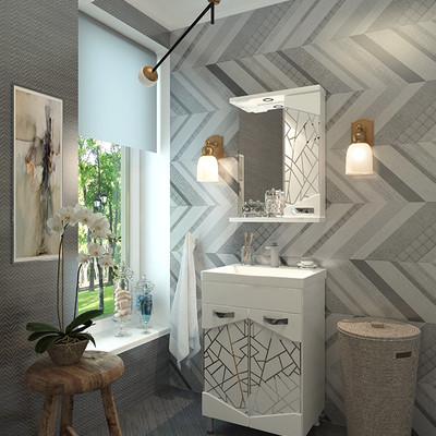 обзор мебели для ванной комнаты Ева Голд